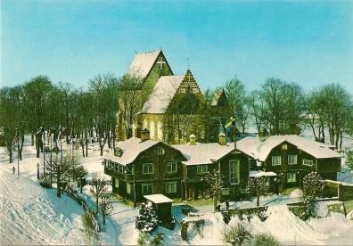 Gamla Uppsala - Odinsborg vinterbild