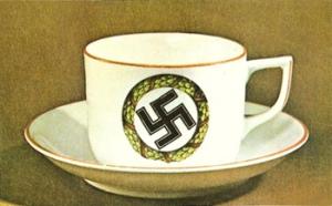 Rolf Steinberg, Nazi-Kitsch, Darmstadt 1975, Kaffeetasse (Universe Books), Hitlerkreuz, Hakenkreuz, Swastika, coffee mug, porcelain cups