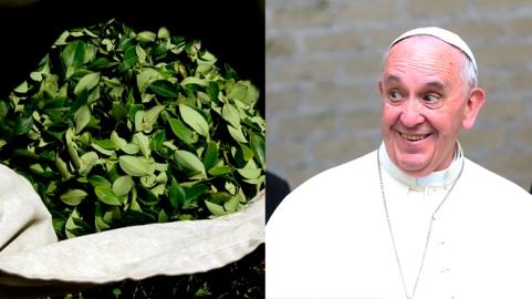 Pope Francis coca Latino