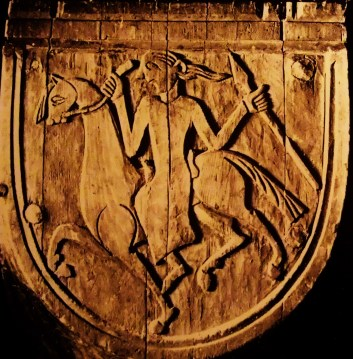 Stave-Church-decoration-shield-maiden-Urnes-Norway