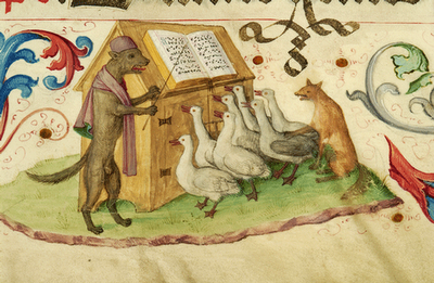 Dog-conducting-geese