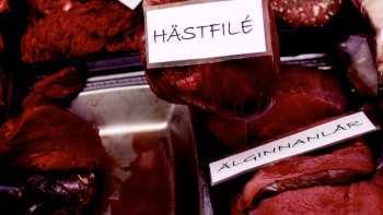 Holmgrens köttdisk i Lunds Saluhall
