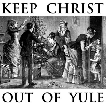 Victorian era engraving depicting adults decorating Christmas tree while impatient children are kept at bay. (Photo by Time Life Pictures/Mansell/Time Life Pictures/Getty Images)