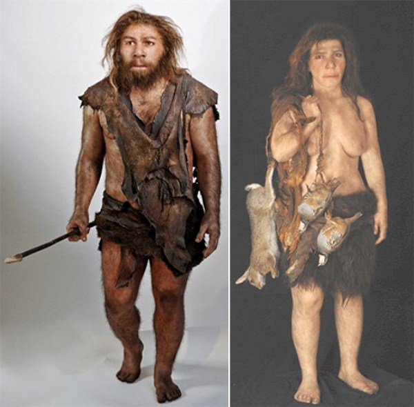 2008-Neanderthal-Male-Female-reconstructions-by-Elisabeth-Daynès