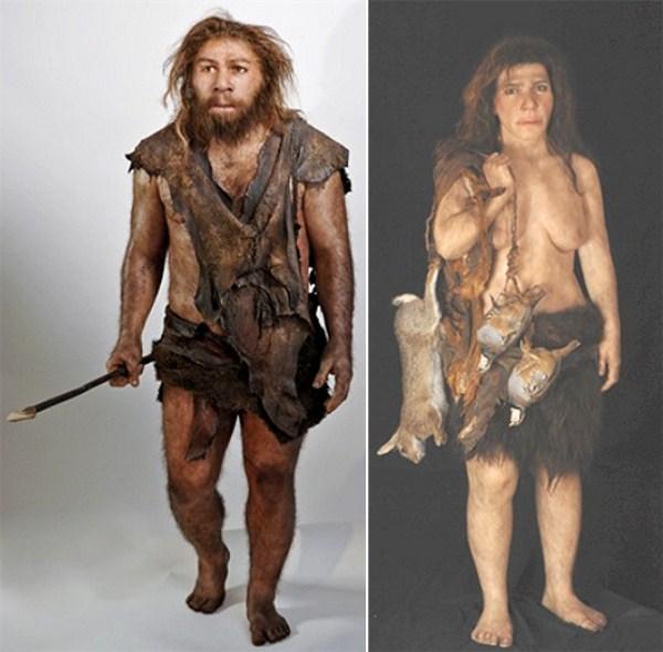 2008-Neanderthal-Male-Female-reconstructions-by-Elisabeth-Daynès