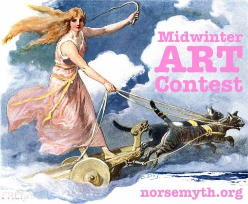 midwinter-art-contest-2016-norse-mythology-blog-facebook-google-plus-twitter-pinterest-rules-entry-carl-emil-doepler-1905-freyja-cats-chariot-wagon-flying