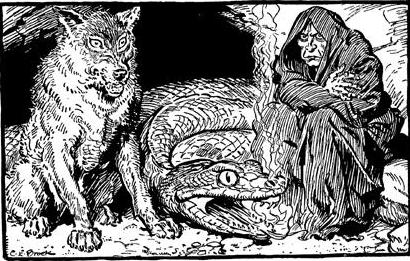 loki-children-jormungand-world-serpent-fenrir-fenris-wolf-hel-norse-mythology-norse-myth